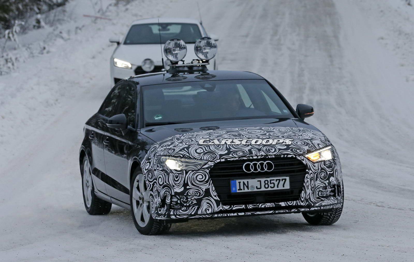 Фотошпионы засняли новый Audi A3 Sedan в камуфляже