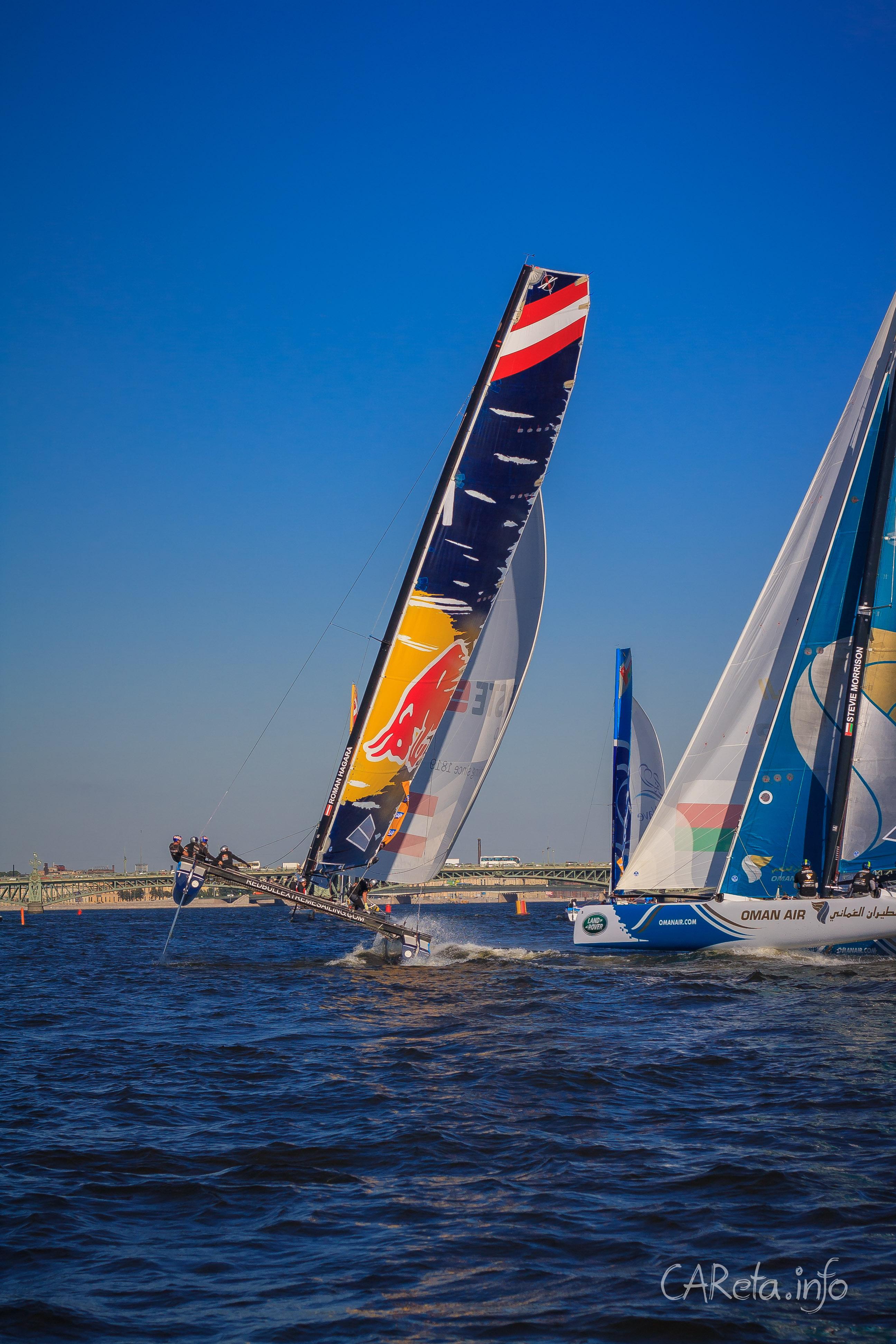 Гонки Extreme Sailing Series  возвращаются в Петербург на «парящих» катамаранах