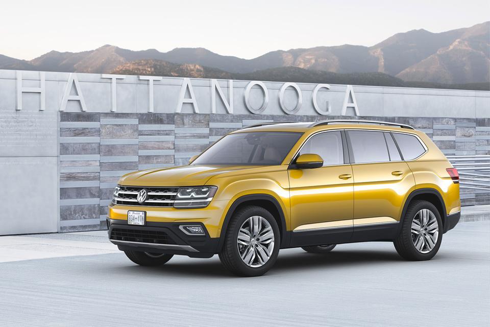 Семиместный Volkswagen Atlas в 2017 году приедет в Россию