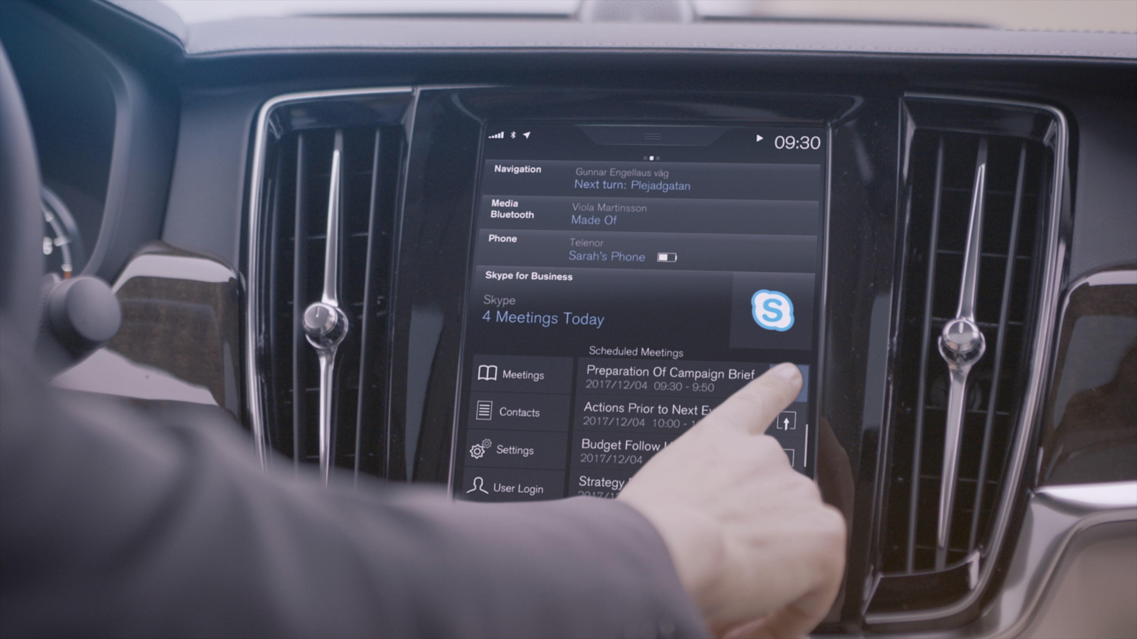 Позвони маме в Скайп из Volvo