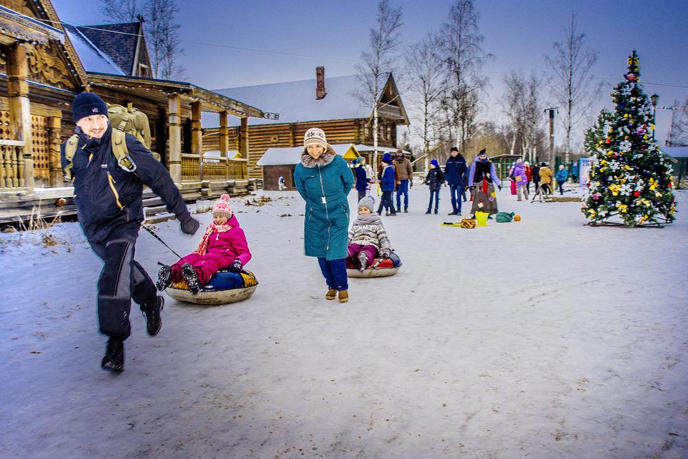 ŠKODA Wagner и новогодние чудеса в Русской деревне «Шуваловка»
