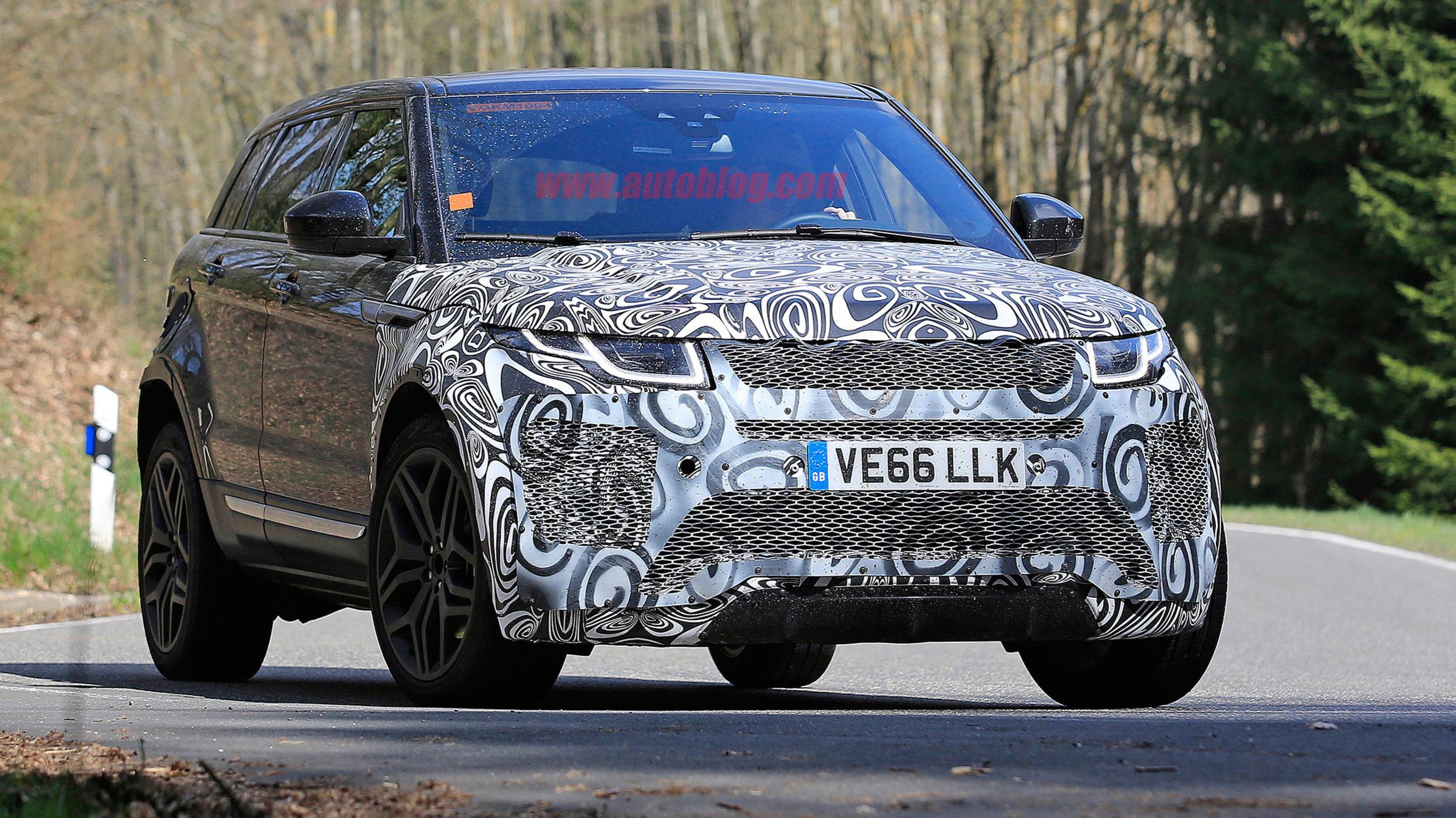 Range Rover Evoque скоро вновь обновится