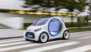 Smart представил автомобиль без руля и педалей