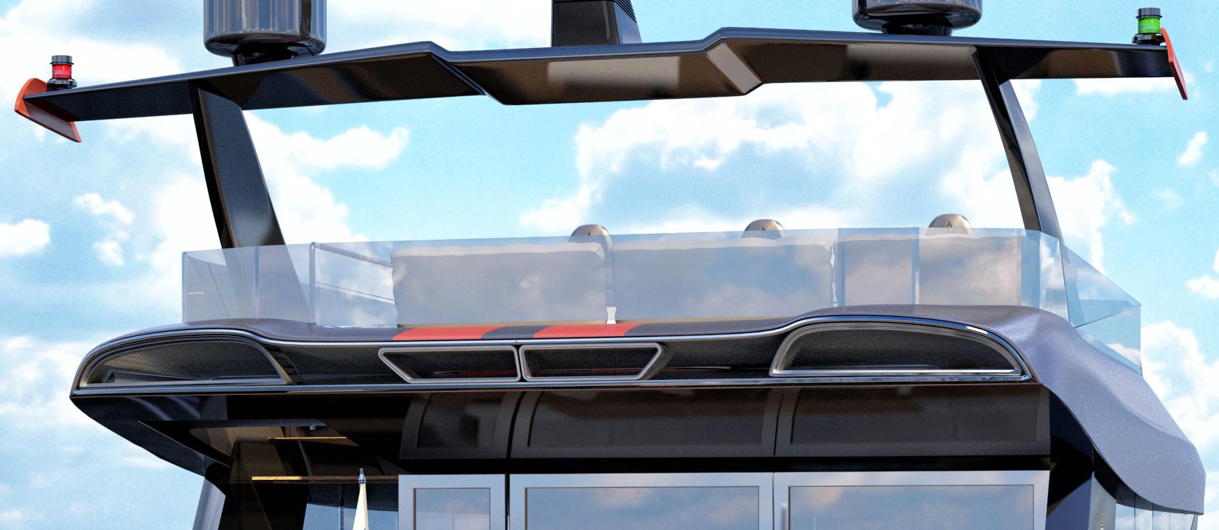 Катамаран в автомобильном стиле для ценителей спорткаров создается в России