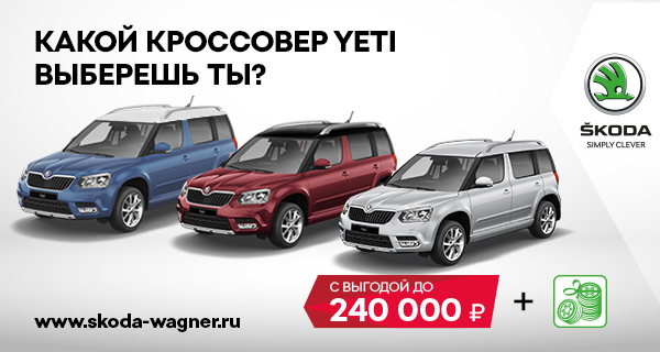 Black Friday до конца 2017 в ŠKODA Wagner!