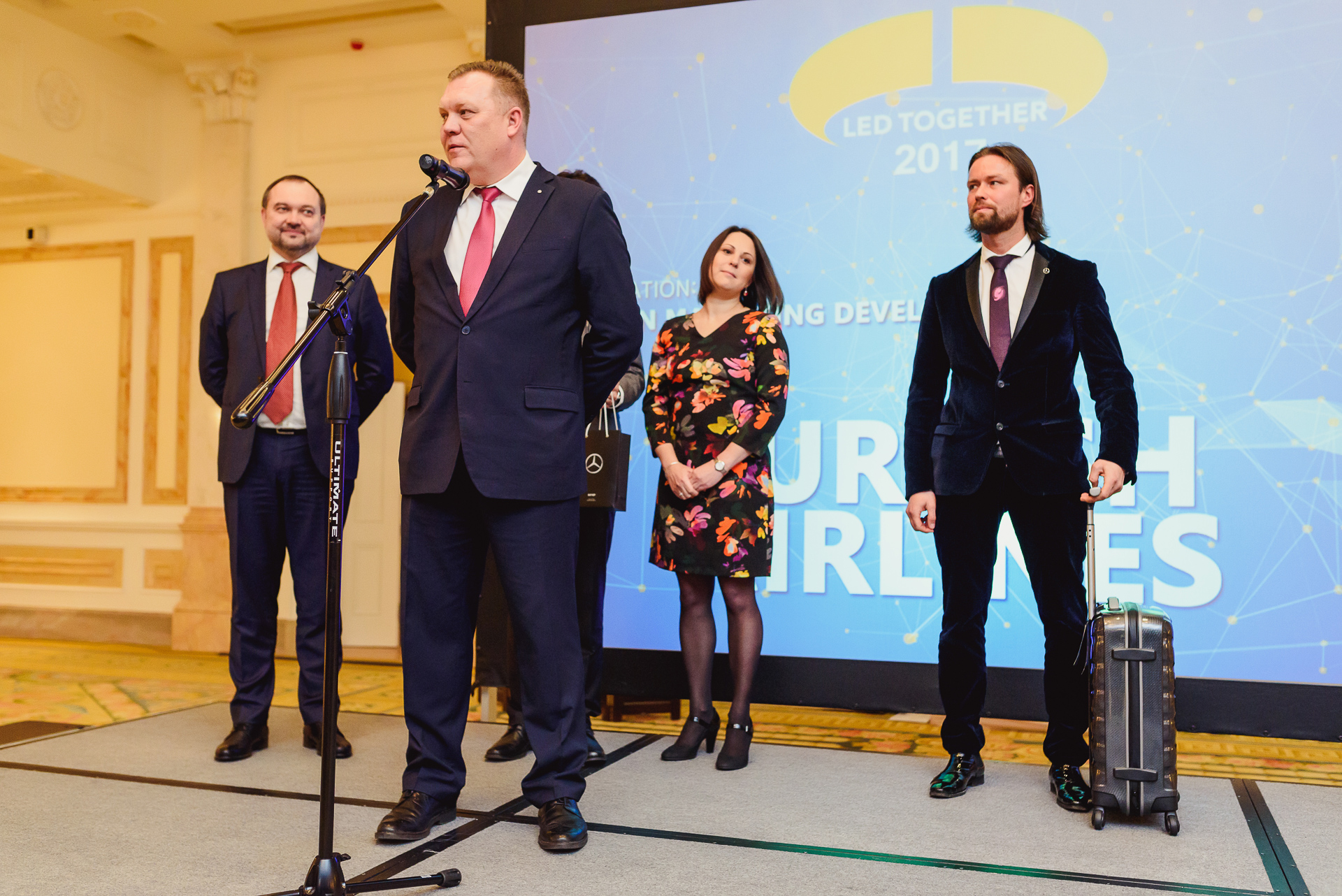 Мерседес-Бенц ВАГНЕР наградил лучшие авиакомпании аэропорта Пулково