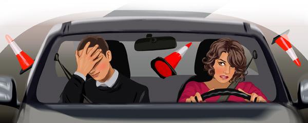 Что раздражает супругов в манере вождения друг друга