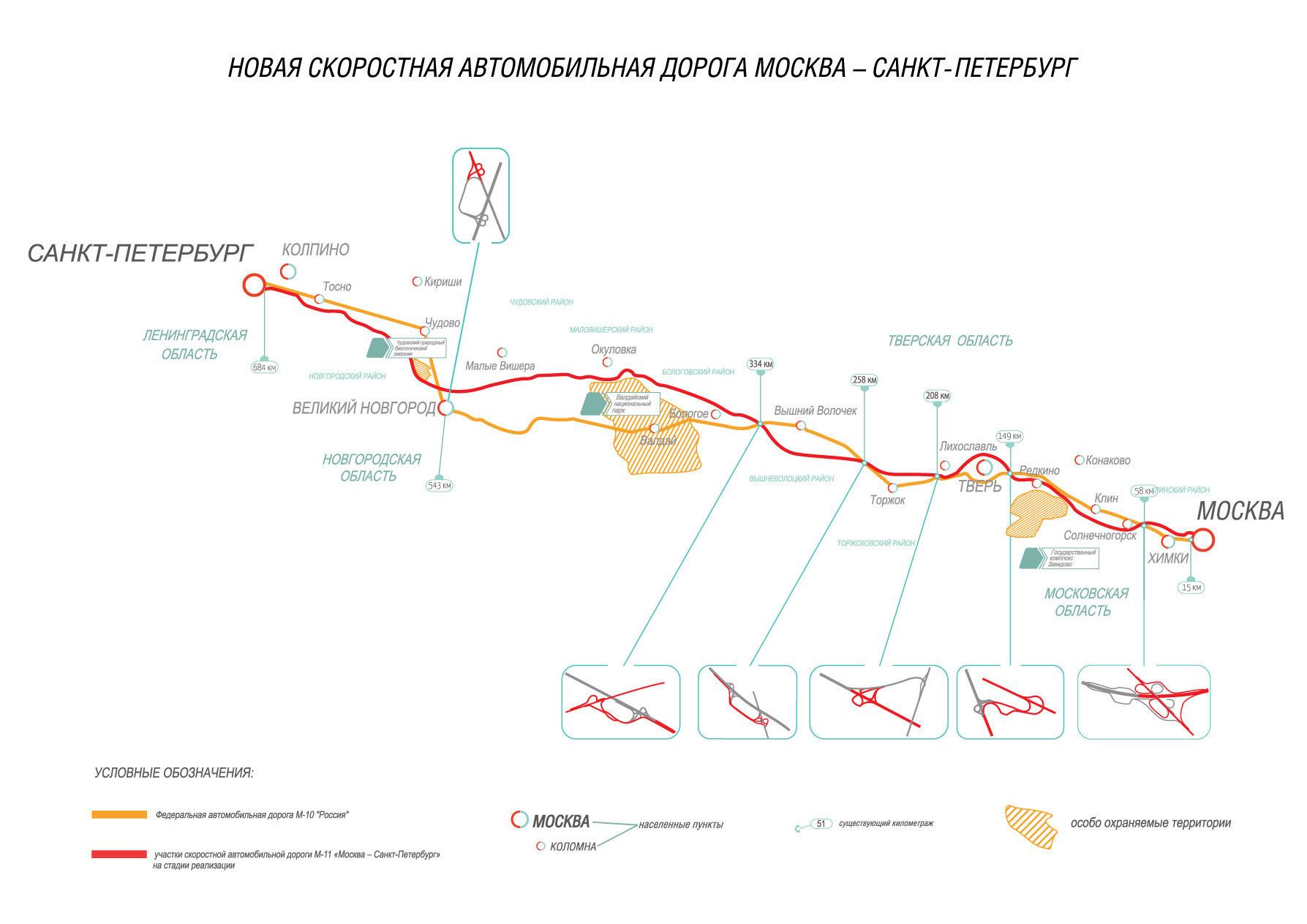 Трасса М11 откроется позднее запланированного