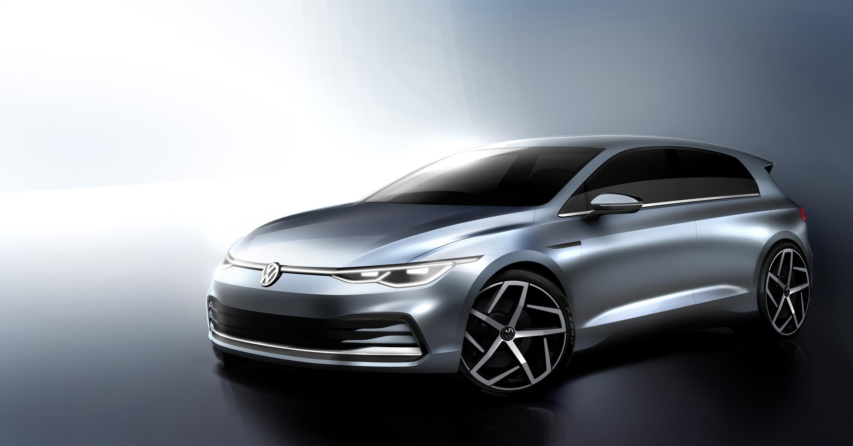 Первые эскизы нового VW Golf