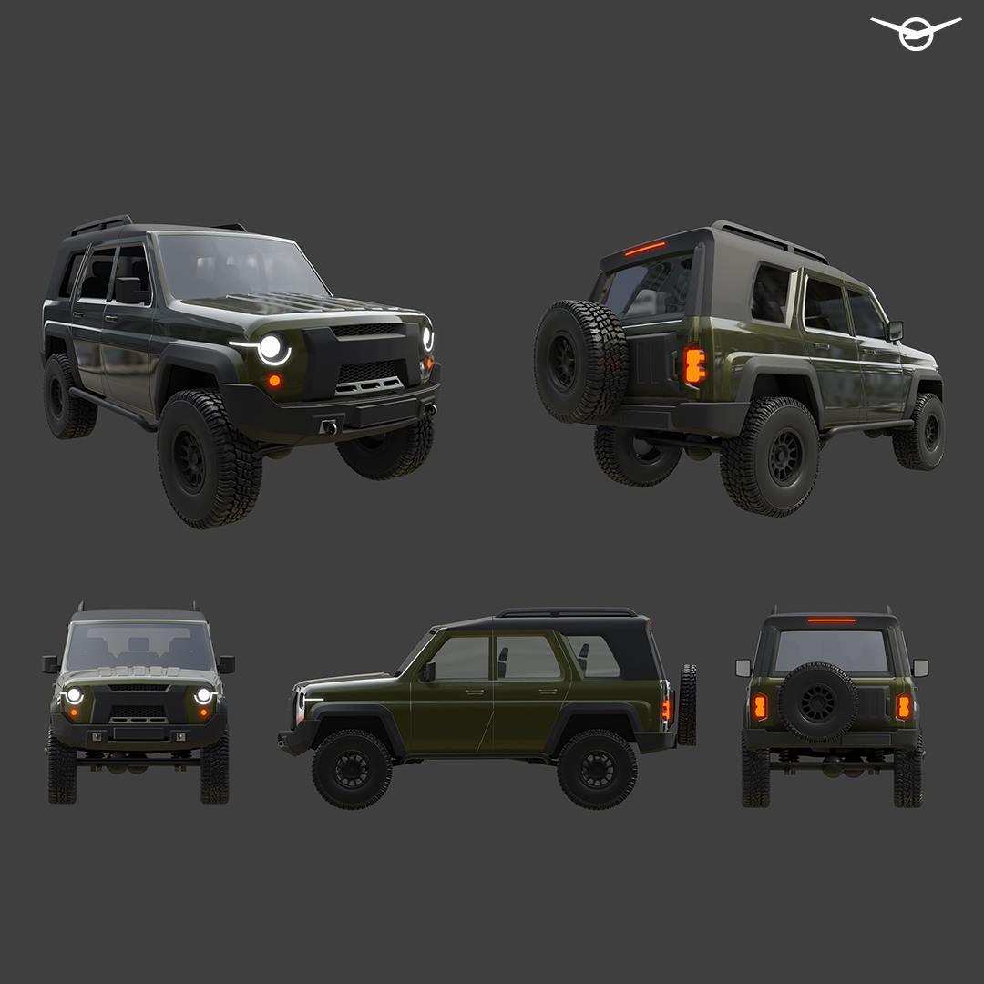 УАЗ показал концепт нового Hunter