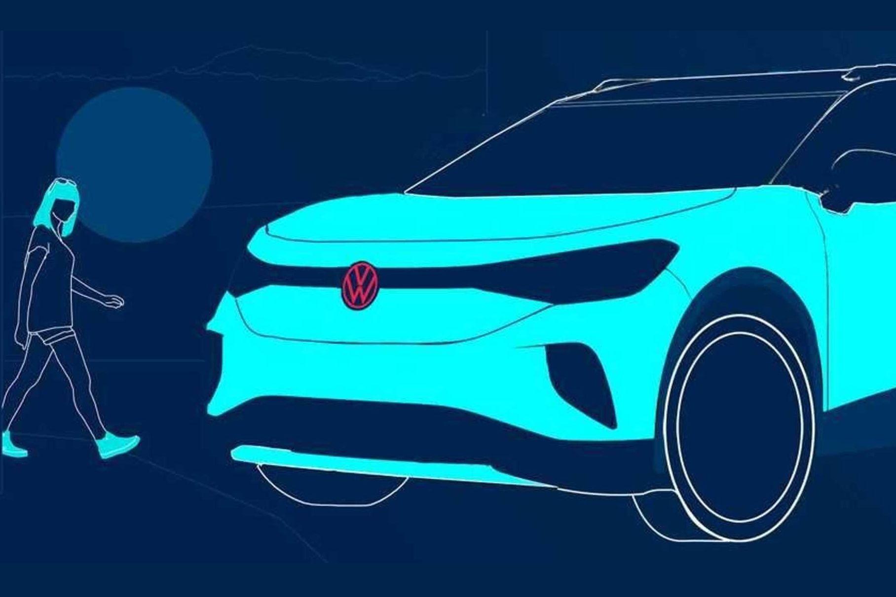 VW показали тизер нового электромобиля ID.4