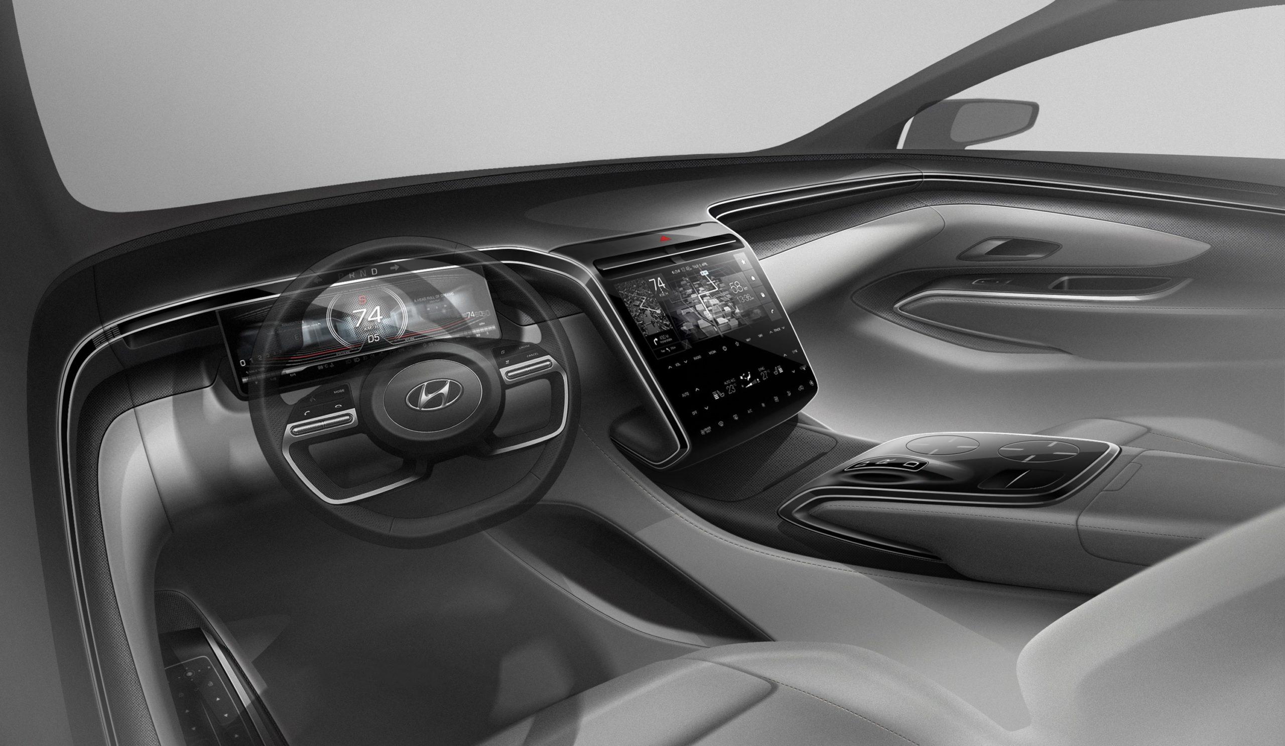 Hyundai показала тизер нового Tuscon