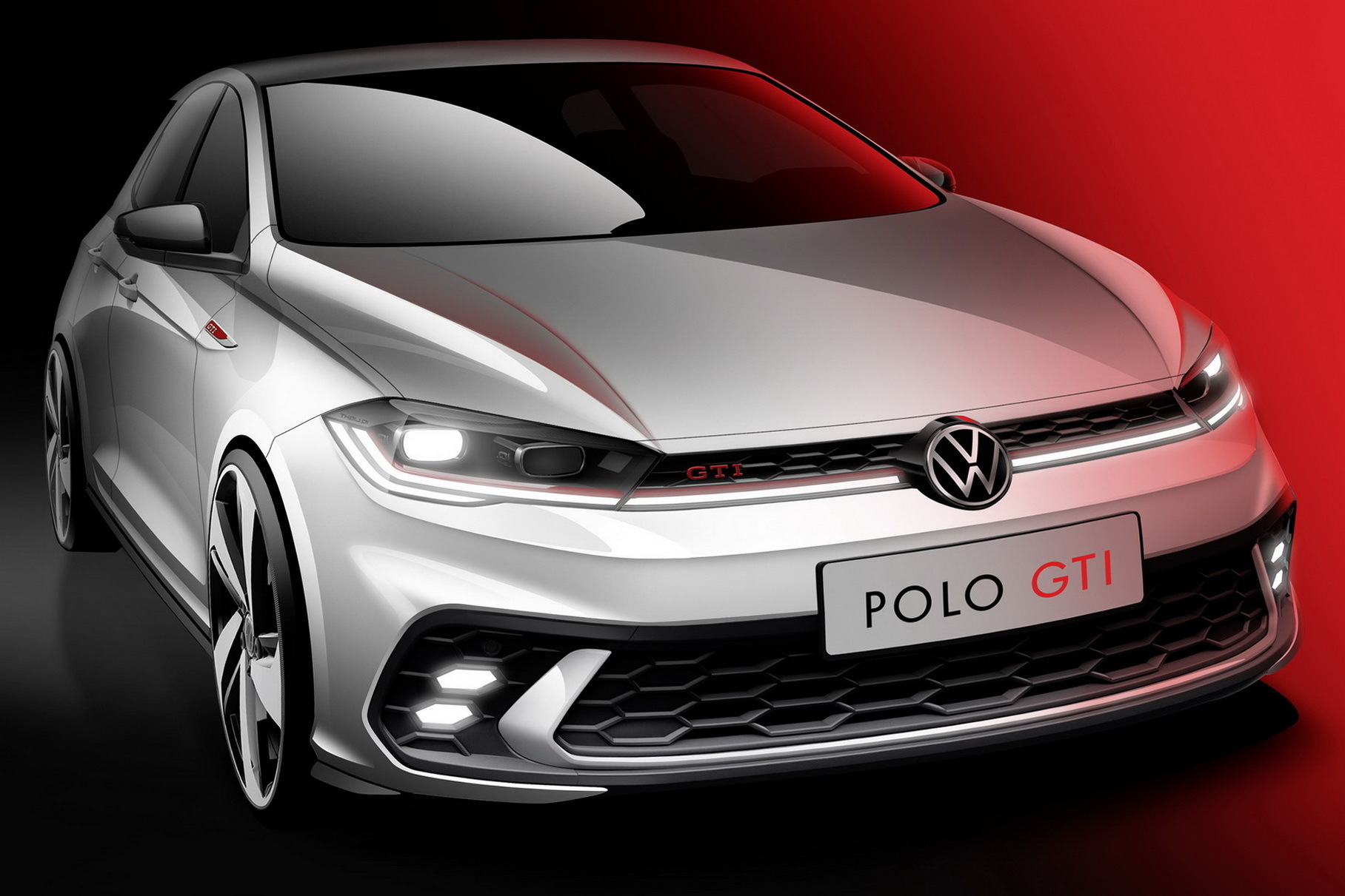 Volkswagen показал тизер Polo GTI